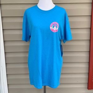 NWT love& pineapples women's blue tee shirt